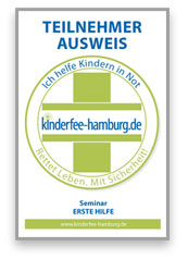 Teilnehmerausweis - Erste Hilfe am Kind